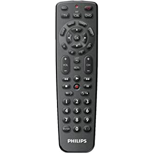 Philips SRP1103/27 Universal Remote Control featuring Simple Setup (Black) (Discontinued by Manufacturer)