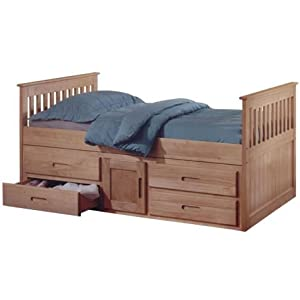 Captains Single 3ft Cabin Bed - Pine Storage Bed Frame