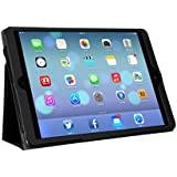MoKo Apple iPad Air Cover Case - Slim Folding Case for Apple iPad Air / iPad 5 (5th Gen) Tablet, BLACK (With Smart Cover Auto Wake / Sleep)