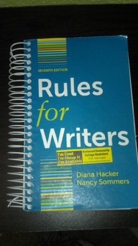 Rules for Writers 7th Edition By Diana Hacker with Sommers