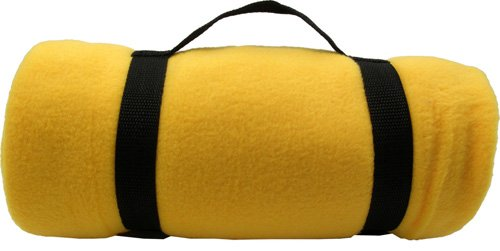 Simplicity 4 Count Wholesale Bulk New 50 X 60 Polar Fleece Throw Blankets Gold front-330711