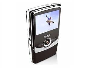 """Kodak Zi6 Caméscope de poche CMOS 1,6 Mpix Zoom numérique 2x Ecran LCD 2,4"""" VGA 128 Mo Noir"""
