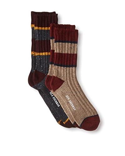 Ben Sherman Men's Roger Marled Rib Boot Socks - 2 Pack