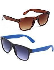 New Stylish UV Protected Combo Pack Of Sunglasses For Women / Girl ( BrownWayfarer-RoyalblueWayfarer ) ( CM-SUN...