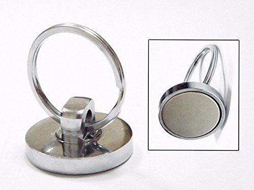 AOMAG® Super Strong Neodymium Magnet Holds 35 Lbs Sintered NdFeB Magnetic Hooks (Pack of 2) (Split Ring) (Super Strong Split Rings compare prices)