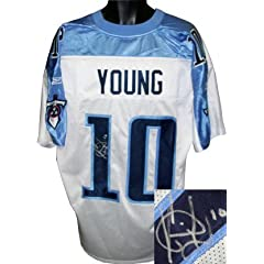 Vince Young signed Tennessee Titans Reebok Authentic Onfield White Jersey by Athlon Sports Collectibles