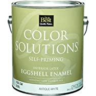 Color Solutions Self-Priming Latex Eggshell Interior Wall Paint-INT EGG ANTQ WHT