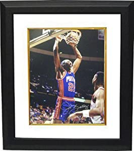 John Salley signed Detroit Pistons 16x20 Photo Custom Framed by Athlon Sports Collectibles