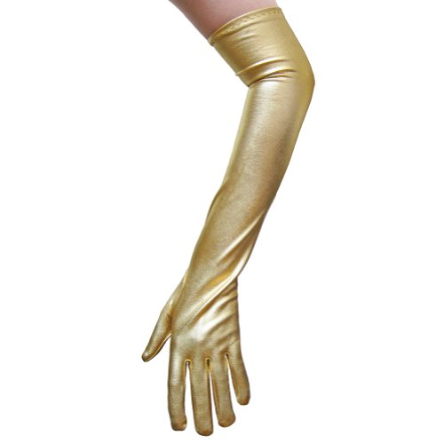 Gold Metallic Gloves ~ Great for Costumes, Party,
