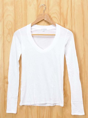 Amazon.co.jp: (ジェームスパース)JAMES PERSE ロングTシャツ/深めVネック/長袖 WMJ3931(L/S RELAXED CASUAL V) [並行輸入品]: 服&ファッション小物通販