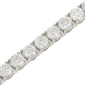 Ladies 31 Stone Round 4 prong Diamond Tennis Bracelet Diamond 19.51cttw gh/si2-3