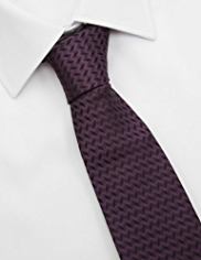 Autograph Made in Italy Pure Silk Zig Zag Tie