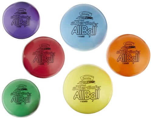 Sportime Weighted Supersafe Foam All-Balls - 4 Inch - Set Of 6 - Assorted Colors front-1014413