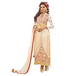 YOUR CHOICE Soft Net Blue Embroidered Women's Anarkali Suit PRI152