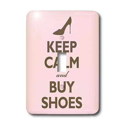 3drose Lsp 159571 1 Keep Calm And Buy Shoes Pink Light