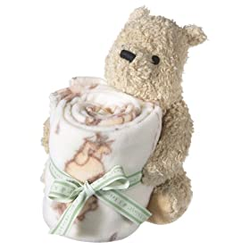 Baby's Store | Crown Crafts Classic Pooh™ Blanket with Plush Toy Gift Set from ibabystore.net