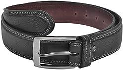 Ox Seven Men's Buckle Belt (AS004, Black)