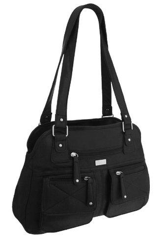 EyeCatchBags - Larisa Damen Handtasche aus Kunstleder, schwarz