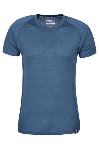 Mountain Warehouse T-shirt in lana merino da uomo Summit Blu navy X-Large