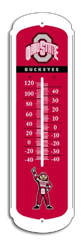 NCAA Ohio State Buckeyes 12-inch Outdoor Thermometer at Amazon.com