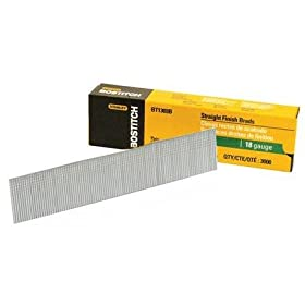 Bostitch BT1309B 1-Inch 18-Gauge Brads, 3000 per Box