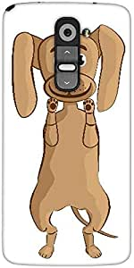 Snoogg Dog Designer Protective Back Case Cover For LG G2