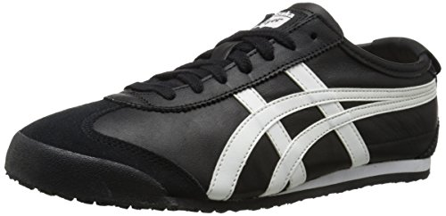 Onitsuka Tiger Mexico 66 Fashion Sneaker, Black/White, 10.5 M Men's US/12 Women's M US