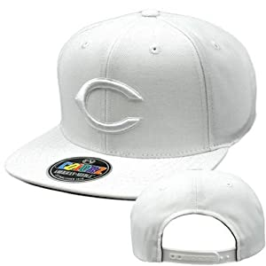 MLB American Needle ColorZ White Cap Hat Flat Bill Snapback Cincinnati Reds by American Needle