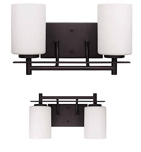 Replace Vanity Light Bar With Two Lights : 2 Bulb Vanity Light Bar Wall Fixture Interior Lighting Oil Rubbed Bronze - hjbfkdgjkm