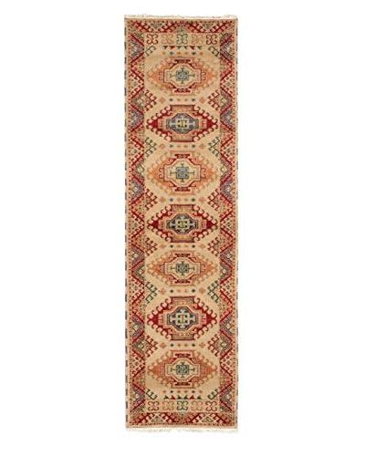 "Hand-Knotted Royal Kazak Wool Rug, Khaki, 2' 8"" x 10' Runner"