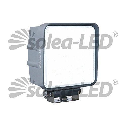 Solea-LED Arbeitsscheinwerfer 3600er Serie, funkentstört, 60° Abstrahlwinkel (Flutlicht), 12-24 Volt, für den Einsatz im Bau-, Land- und Forstbereich, Inkl. Befestigungshalterung