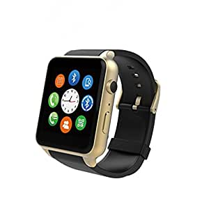 AWOW Smartwatches Bluetooth Heart Rate Hidden Camera Watch Mobile Phone Gold