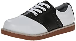 Classroom School Uniform Shoes Cheer Oxford (Toddler/Little Kid/Big Kid),Black/White,3.5 M US Big Kid