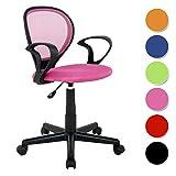SixBros. Bürostuhl Drehstuhl Schreibtischstuhl Pink - H-2408F/1406