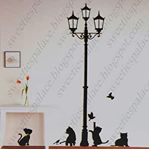 Njseller cn diy decorative wall paper art sticker mural for Cn mural designs