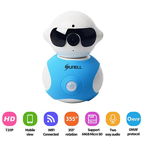 Surveillance Camera,EEDI New Mini Q3T0 HD 720P IR Wi-Fi Cute Toy IP Wireless PIR with Built in Micro Suit Surveillance Security Syetem Smart Camera With Pan And Tile-White (Small Fans For Dvr compare prices)