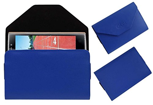 Acm Premium Pouch Case For Iball Andi Sprinter 4g Flip Flap Cover Holder Blue  available at amazon for Rs.179