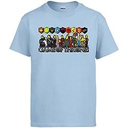 Camiseta Juego de Tronos Game of Thrones personajes, Celeste, 3-4 años