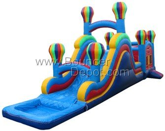 Pool Slides:Big-Combo-Balloon-With-Pool-Moon-Walk-Inflatables Images