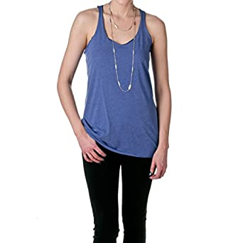 Next Level Apparel Women's 6733 Tri-Blend Racerback Tank, Royal Blue, Size X-Small