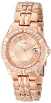 GUESS Womens U11069L1 Sporty Chic Rose Gold-Tone Mid-Size Watch
