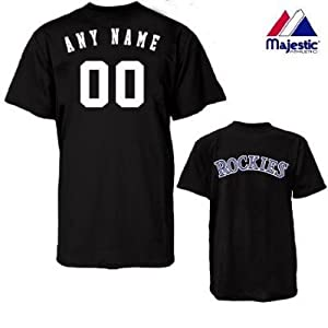 Colorado Rockies Personalized Custom (Add Name & Number) 100% Cotton T-Shirt... by Authentic Sports Shop