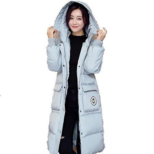 AiSiC Women winter Slim Hooded Jacket Knee Long Down Coat