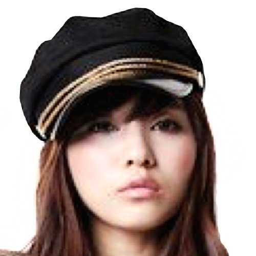 ECOSCO Women Girl Army Military Navy Marine Sailor Captain Costume Hat Cap