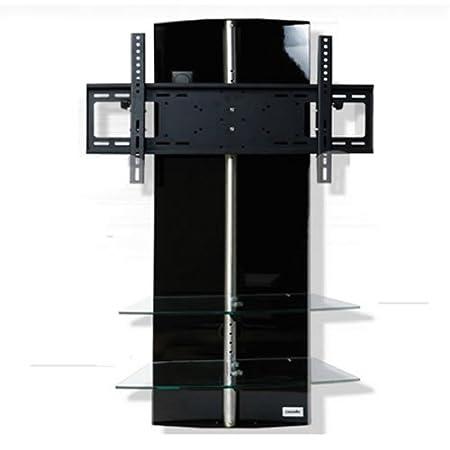 TV-rack pantalla color: negro