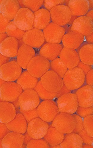 "Creativity Street Pom Pons 100-Piece x 1/2"" Orange - 1"
