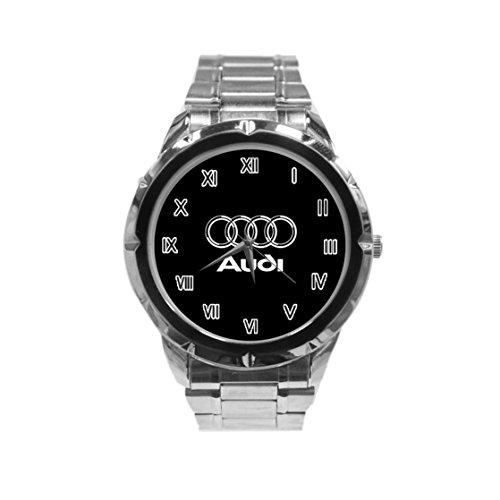 Audi Logo Photo Custom Fashion Men Wrist Watch Stainless Steel Band Men's Sport Watch HOT (Custom Photo Watch compare prices)