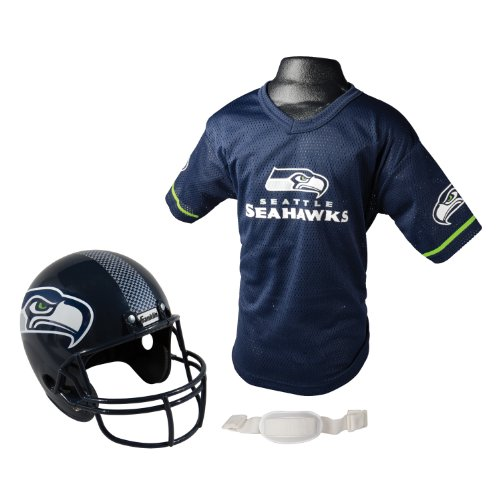 NFL Seattle Seahawks Replica Youth Helmet and Jersey Set