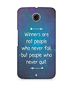 AMEZ but people who never quit Back Cover For Motorola Nexus 6