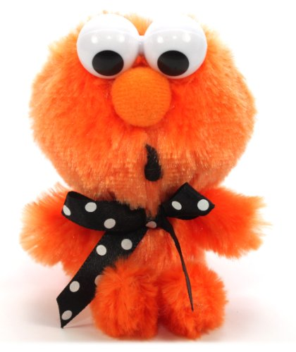 Furyu Official Sesame Street Polka Dot Ribbon Elmo Plush Strap - 3274 - Orange - 1